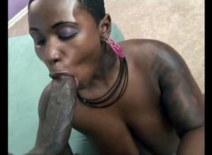 Lush shorthaired dark-hued mature..