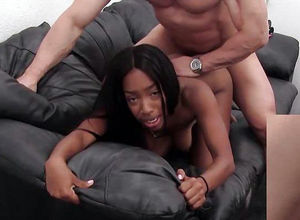 Hard ripped ebony fuckslut gets..