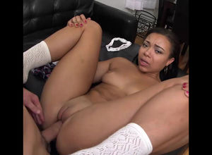 Whorish gf Adrian Maya smashed hard.